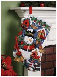 Bucilla ® Seasonal - Felt - Stocking Kits - Snowman & Birds
