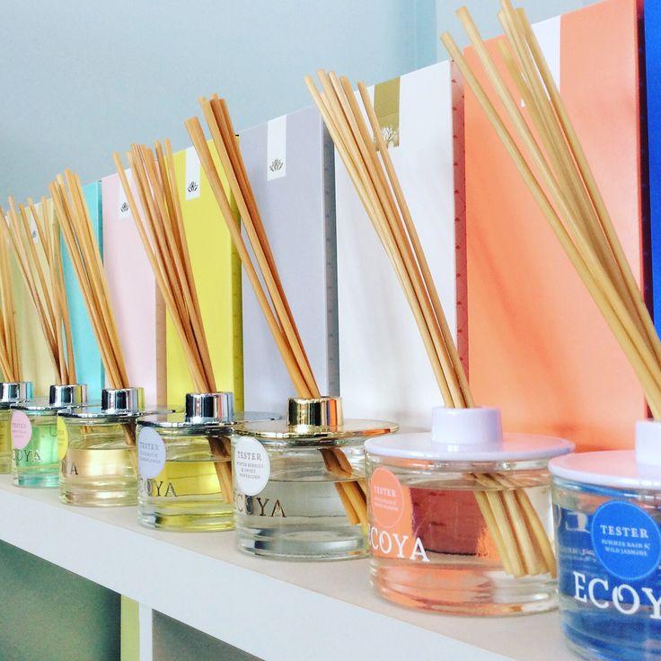 Delicious scents to add to any room #ecoya #diffuser #frenchpear #vanillabean #lotusflower #sweetpeaandjasmine #lemongrassandginger #coconutandelderflower #winterberriesandsweetpeppercorn #whitepeachandorangeblossom #summerrainsndwildjasmine