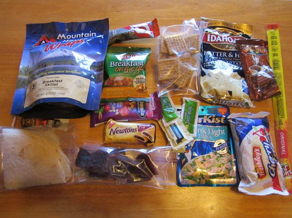 Ultralight Backpacking Meal Plan - 5 day plan.  this is a good list for a hiking trip. Too calorie dense for a camp out