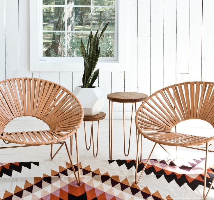 citizenry-apaculpo-chairs The Aldama Chair is made in Mexico City by the Coyoacan Design Studio and has a copper frame with natural leather seat;  $875.