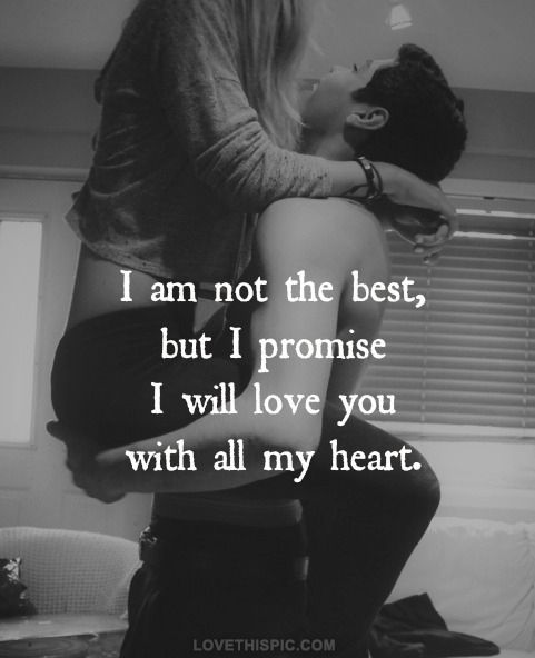 I promise you that