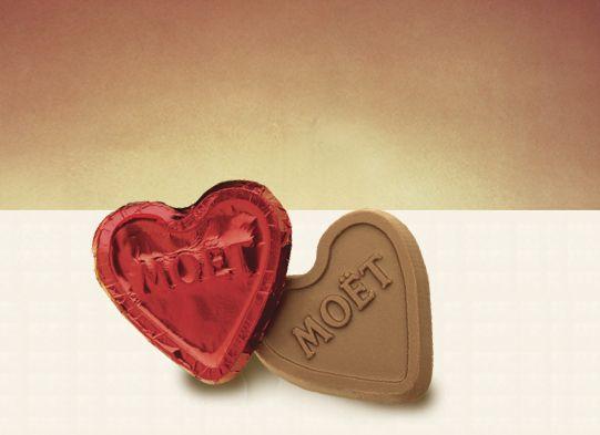 Custom Foiled Chocolate Hearts