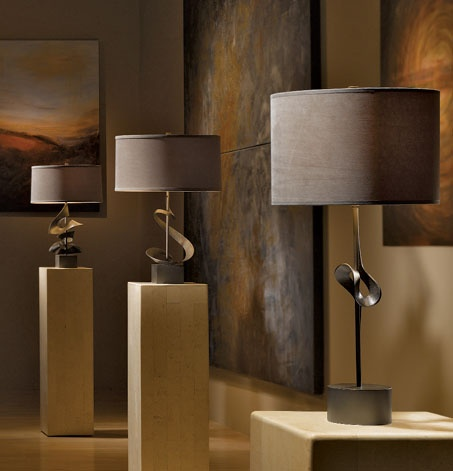 Table Lamps From The Gallery Collection From Hubbardton Forge   Winner Of  The 2011 Pinnacle Design