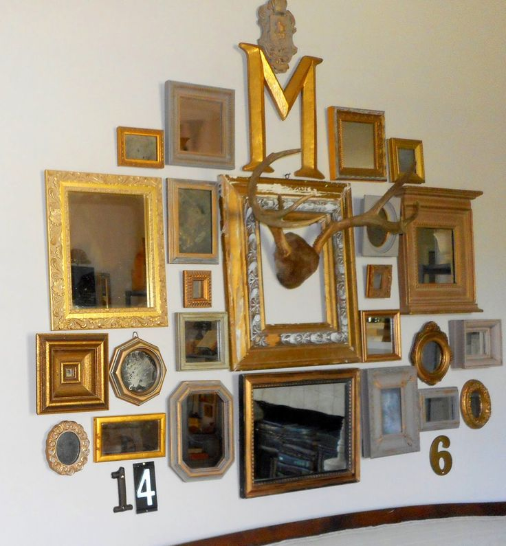 Revisionary Life: Industrial Vignettes #4 - Gold Mirror Gallery Wall