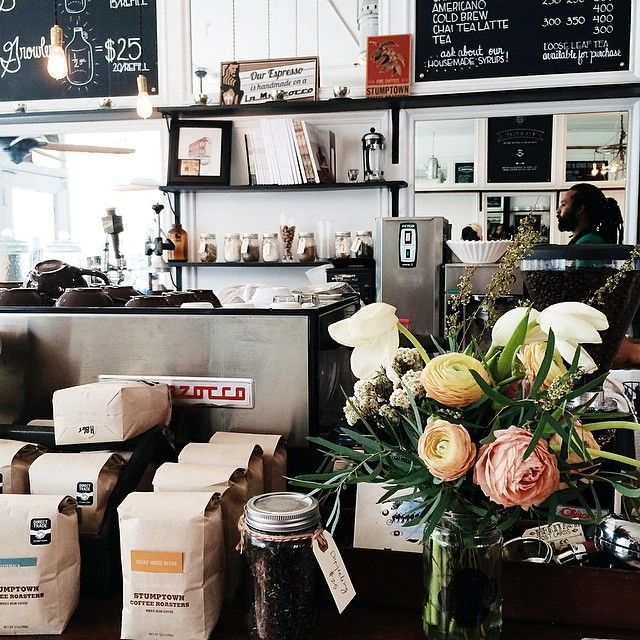 A quiet rainy afternoon with cold brew and good conversation (at Heritage Bicycles General Store)