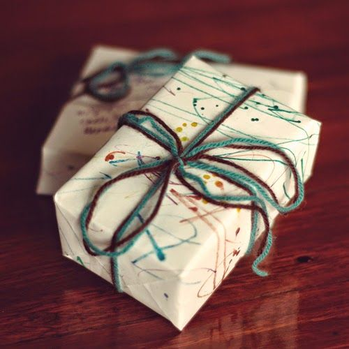with love, BJHW&TvH Kids Crafts Homemade Wrapping paper
