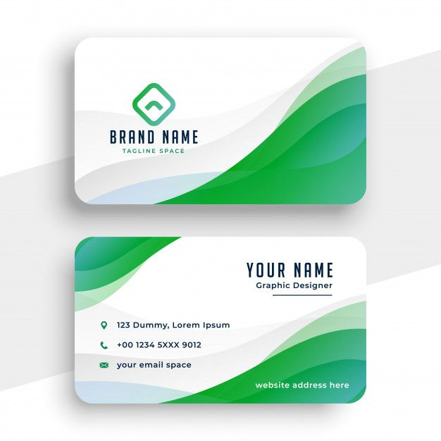 Download Elegant White And Green Business Card Template For Free Green Business Card Design Graphic Design Business Card Business Card Template Design