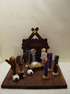 Christmas Clothespin Nativity Scene Craft