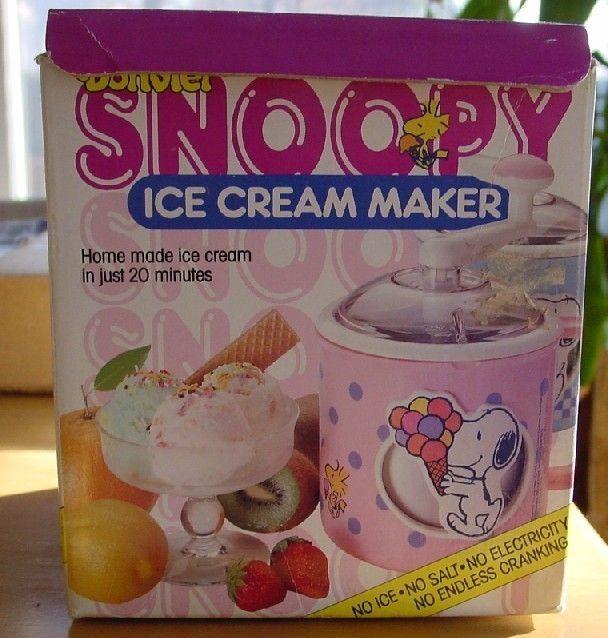 vintage ice cream maker | Peanuts Snoopy Vintage Donvier Ice Cream Maker - Ice Cream Makers