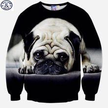 Monsieur. BaoLong nouvelle conception Spéciale sweat hommes grand chien de Roquet 3D imprimé hoodies hommes et les femmes peuvent porter Harajuku sweat XS6(China (Mainland))