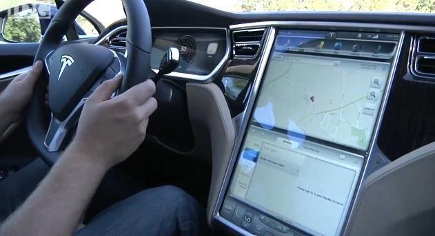 """Tesla model S 17"""" touch screen"""