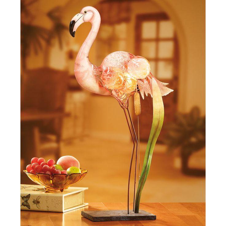 Capiz Shell Electric Luminary - Flamingo