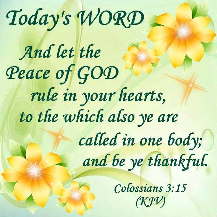 Image result for let the peace of god  rule in your heart kjv