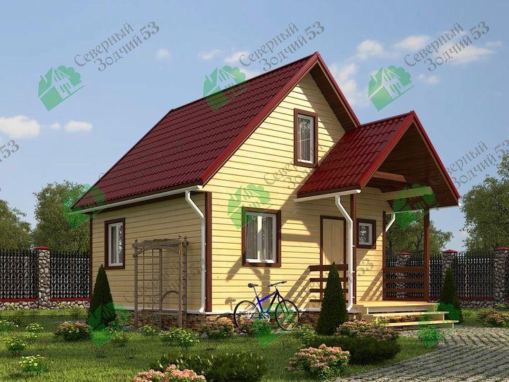 Дом из бруса Егор размером 6х7.5, Площадью 51кв м