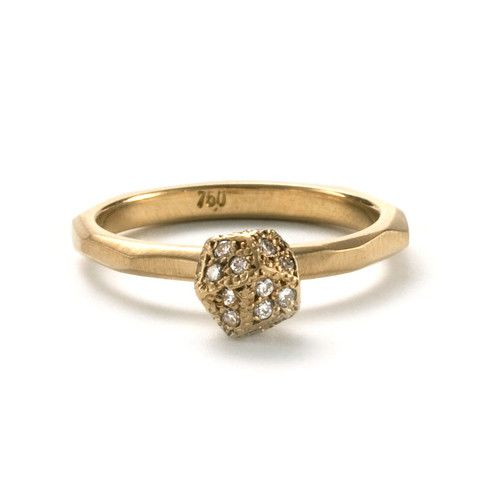 Diamond Encrusted Gem Promise Ring – Pieces of Eight Gallery