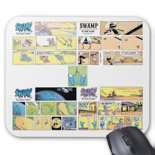 A 4 Swamp comic collection mouse pad with cartoons from the Sunday archives. 15% off ZAZZDECEMBER $16.95 #mousepad #comics #funnycartoons #swampcomics