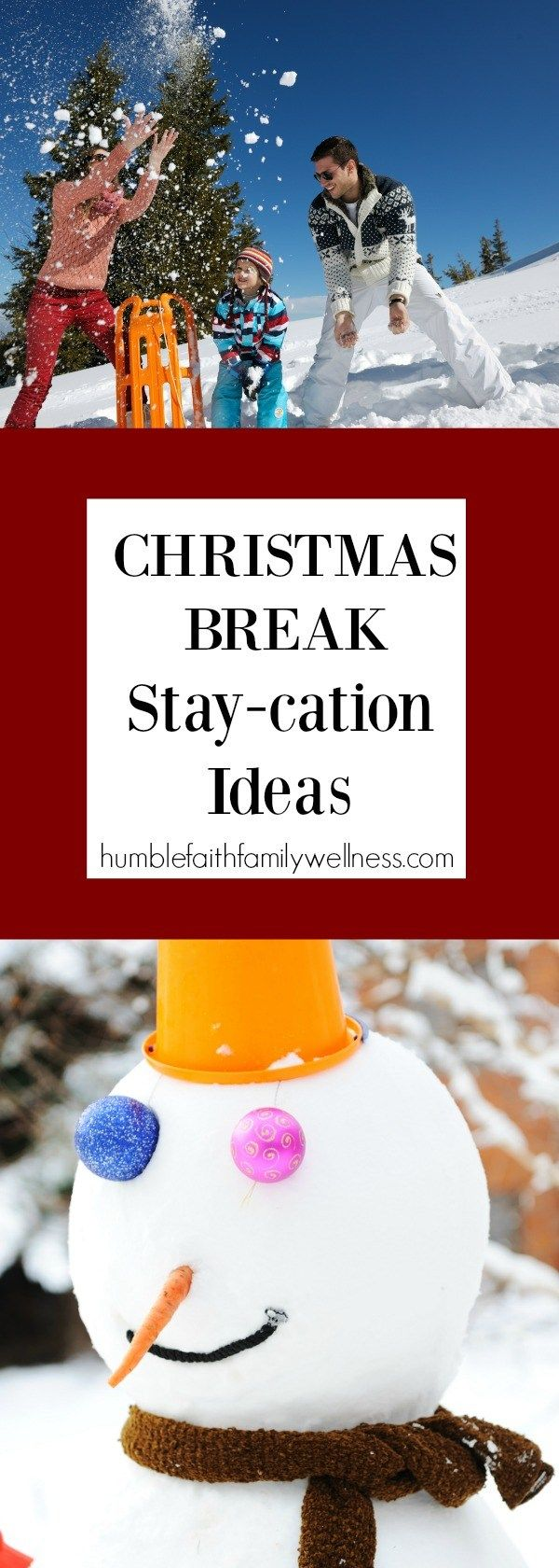 Christmas break doesn't have to be expensive or entail a large trip. Find great activities right in you own area! #ChristmasBreak #WinterActivities #Christmas #Family