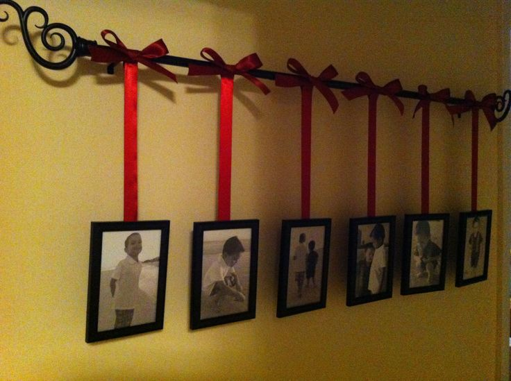 Photos Hanging From Curtain Rod My Pinterest Projects