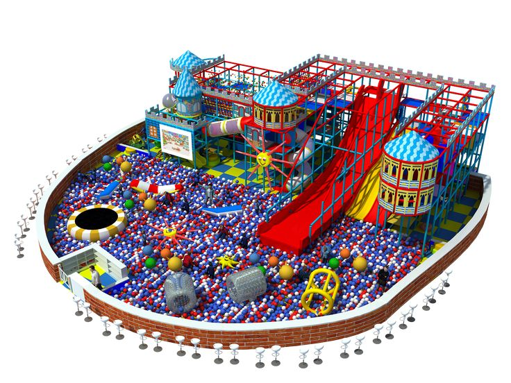 6 Meters High Indoor Playground It Includes The Vertical Crazy Slide Long Wave