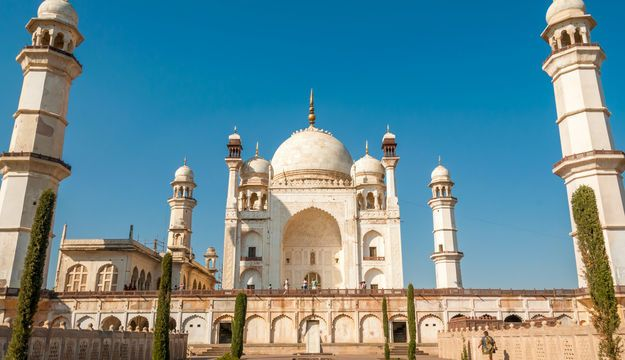 Bibi ka Maqbara: A replica of the Taj Mahal, the Bibi-ka-Maqbara is the only example of Mughul architecture of its kind in the Deccan plateau. It was built in 1679 by Aurangzeb's son, in tribute to his mother, Begum Rabia Durani. Due to its resemblance to the Taj Mahal, it is also called the Dakkhani Taj (Taj of the Deccan)