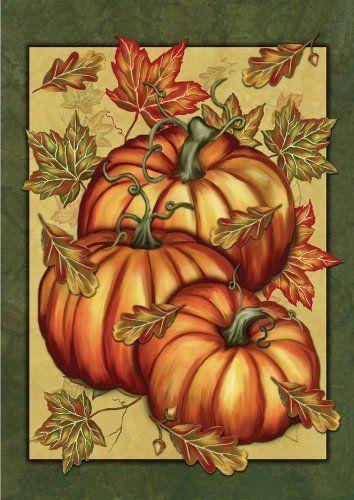 Pumpkin Spice Garden Flag by Toland. $12.20. Decorative Art Flag. Machine…