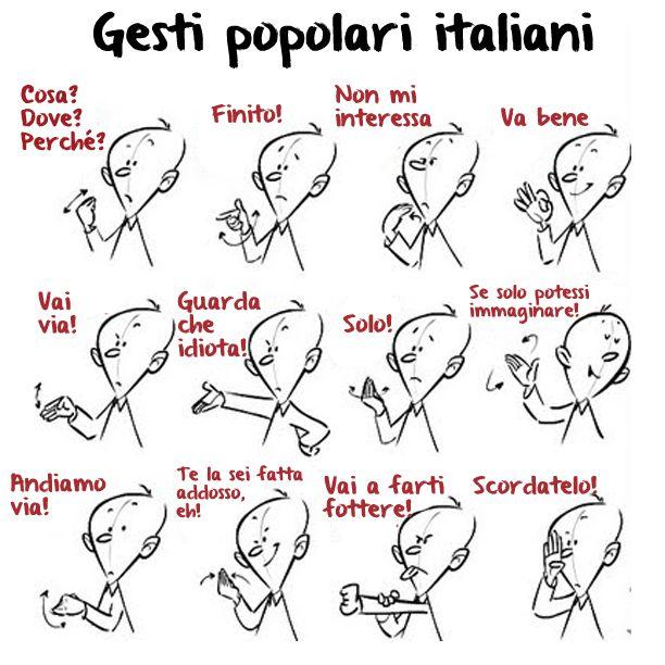 Gesti popolari italiani Popular Italian gestures #homeschool