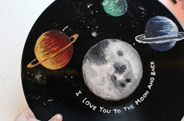 I Love You To The Moon And Back Vinyl Art Paint Vinyl Record