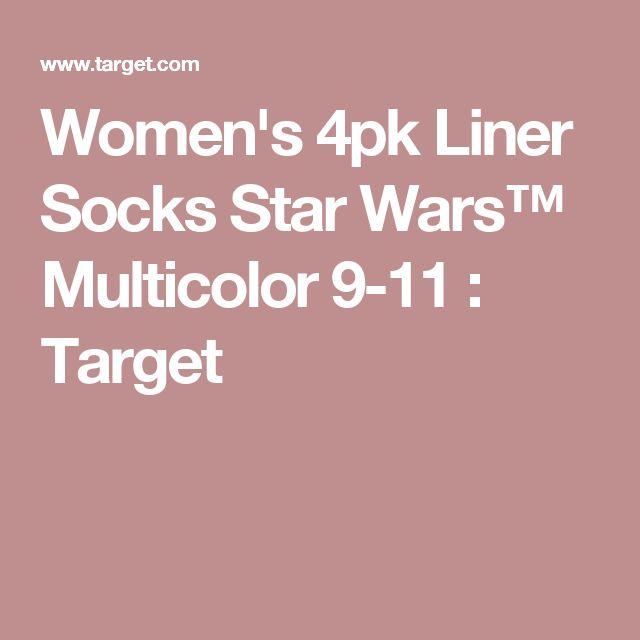 Women's 4pk Liner Socks Star Wars™ Multicolor 9-11 : Target