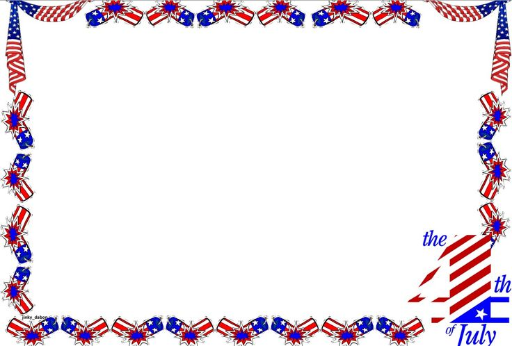 A set of Independence Day themed lined paper and page ...