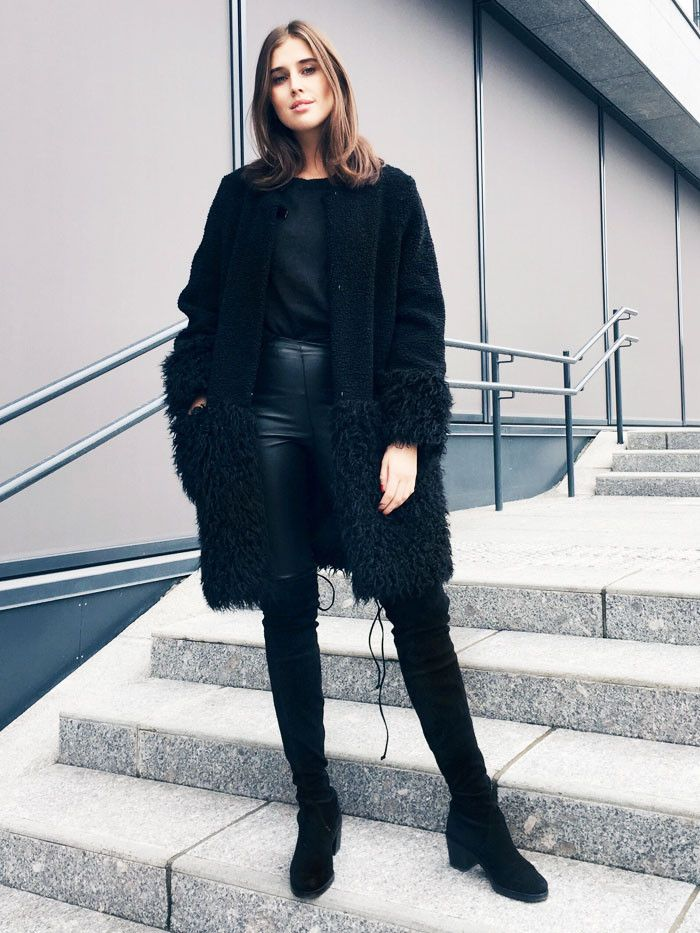 Girls Who Love Wearing All Black Will Adore These 9 Looks via @WhoWhatWearUK