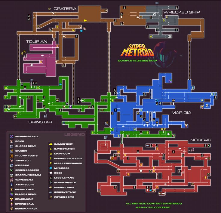 total map | Super Metroid