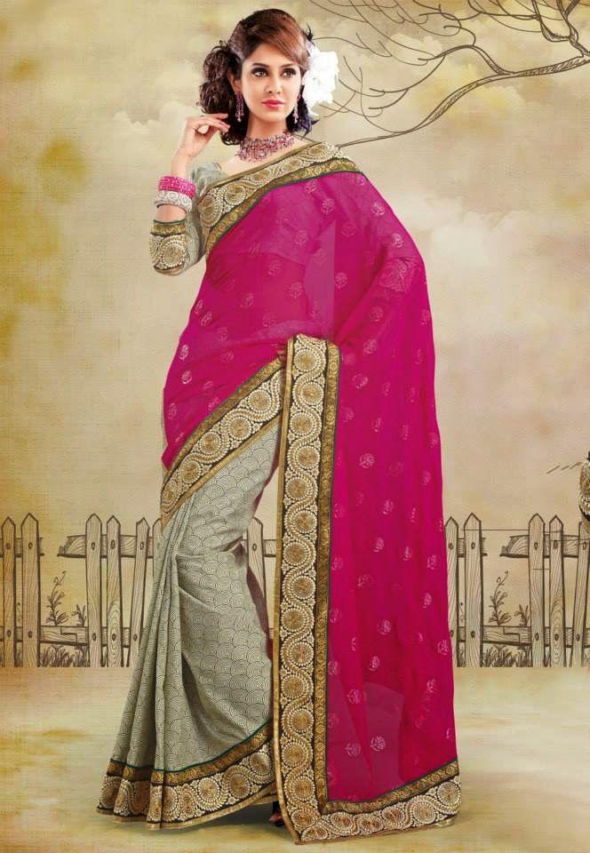 Utsav Bridal & Party Wear Sarees 2014 | Stylish Lehenga Style Sarees For Women And Girls