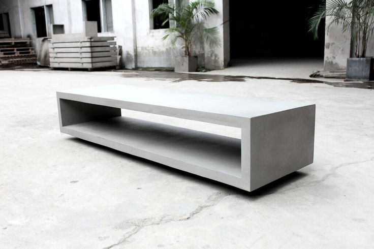 Concrete tv bench by Lyon Beton ready to order via rowat and gray in London, Nationwide delivery available ..call 02075374139 / ino@rowatandgray.com for pricing and more information on the whole range