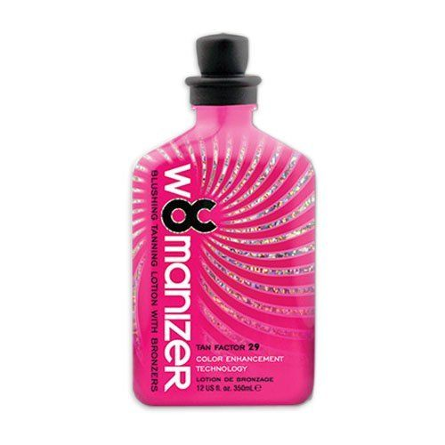 OC Womanizer Tanning Lotion Indoor Tan Bed Bronzer Enhancer Dark RSun Moisturize by OC. $23.95. Blush - Highest level of melanin production.. Biosaccharide Gum - Helps eliminate after tan odor.. Silicone Emulsion. Fragrance: Designer Perfume. Tan Enhancer, Bronzer, Blushing, Skin Firming. Rsun introduces the OC collection of tanning lotions and accelerators to enhance the longevity and depth of your tan. With the Womanizer tanning lotion you get Blush which is the ...