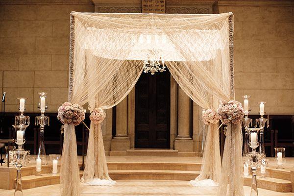 décoration de mariage dentelle