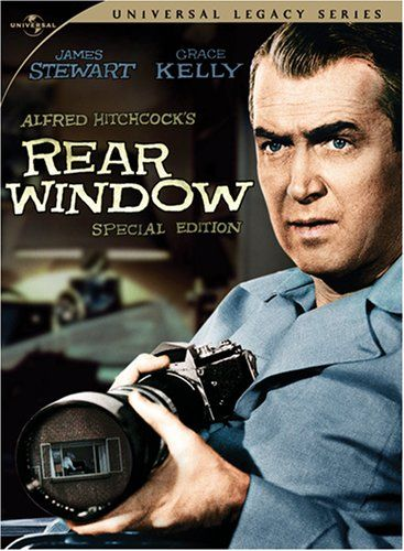 Rear Window.  This is my favorite movie with Jimmy Stewart in it.  SO WELL DONE!