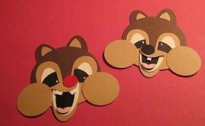 tooo cute!! Chipmunks: Chipmunks Art Projects, Punch Ideas, Cards Punch, Chipmunks Repin By Pinterest, Papercraft Punch, Paper Punch, Chipmunks Crafts, Punch Art, Butterflies Punch