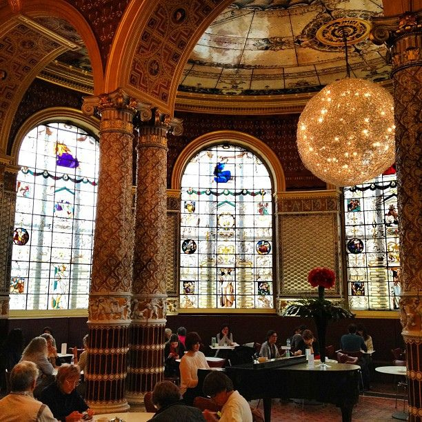 Victoria and Albert Museum Café-London-* Spent a 1//2 day here at this beautiful museum and stopped for a delicious high tea in this stunning museum café!