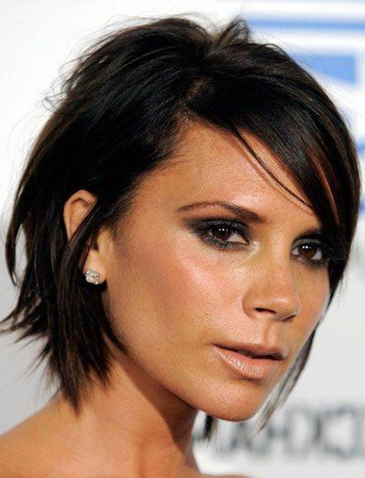 Choppy Layered Celebrity Victoria Beckham Haircuts