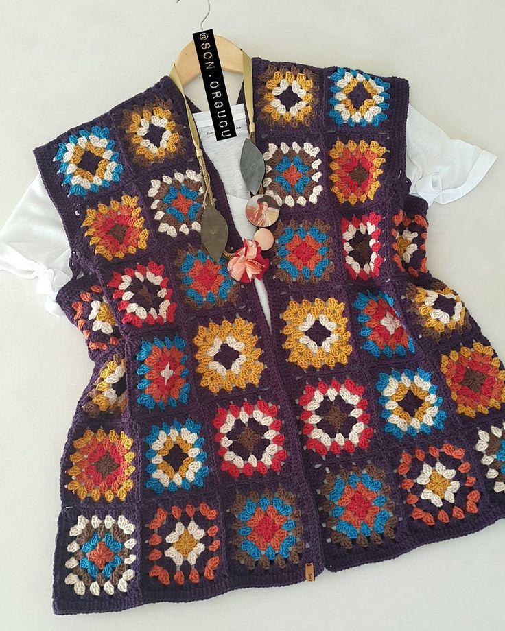 Selam~   Günaydınlar 🐝  Bu yeleğimizde tamamdır.  Sezonun son siparişlerini hızlı bir şekilde tamamlayıp kafa iznine çıkmayı planlıyorum 🌼🐝  •  Dinlenmek gerek...🐜  •  Mutlu günler...❤  •  •  🔴SİPARİŞ ALmıYORUM🔴  •  •  •  •  #crochet #crocheter  #knittingofinstagram  #colorfull  #handcraft #handmade #hobby #elişi #motif #grannysquare #craft #creative #style #örgü #günaydın #picofheday #häkeln #craftastherapy_details #design #moda