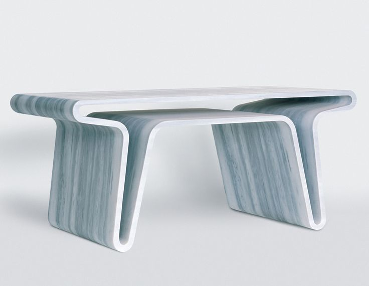Extruded table 1, 2007 Gagosian Gallery, NY. Marc Newson. I'm pretty sure that's marble. Wow.