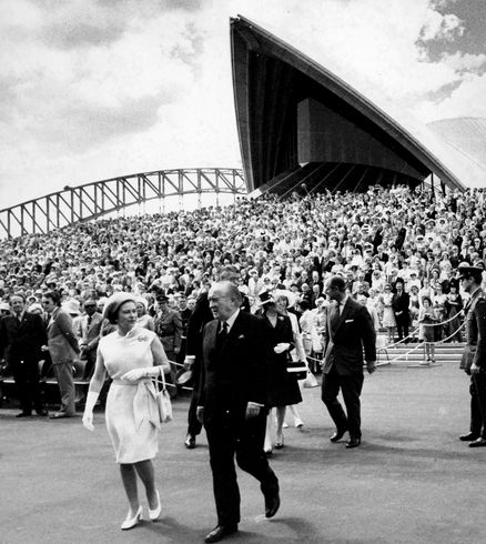 On this day in 1973 (20 October) the Sydney Opera House was opened by Queen Elizabeth II.