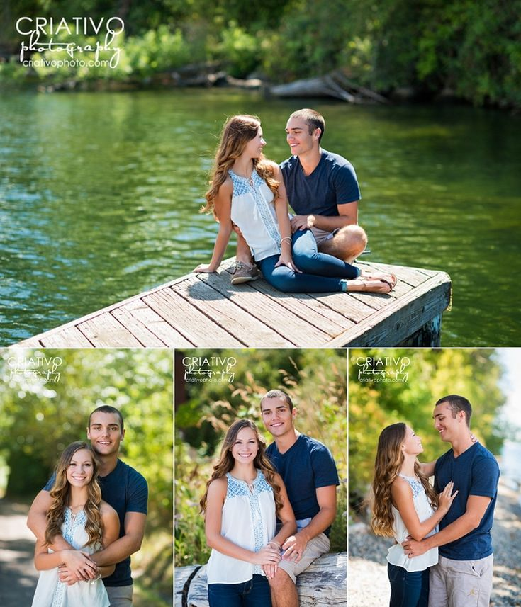 Senior girlfriend and boyfriend on the lake, captured by Bellevue senior photographer, Criativo Photography, www.criativophoto.com