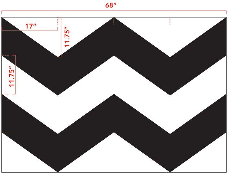 DIY Chevron Curtain Tutorial with Template :: Green Your Decor