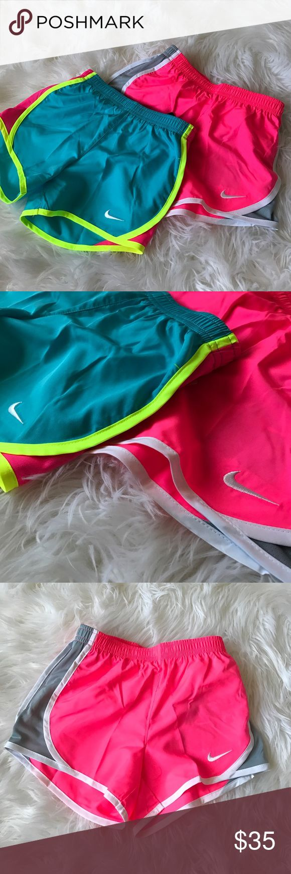 Nike shorts bundle Girls Nike fro-fit shorts bundle- these have the built in underwear. ReTails for $50! NWT Nike Bottoms Shorts