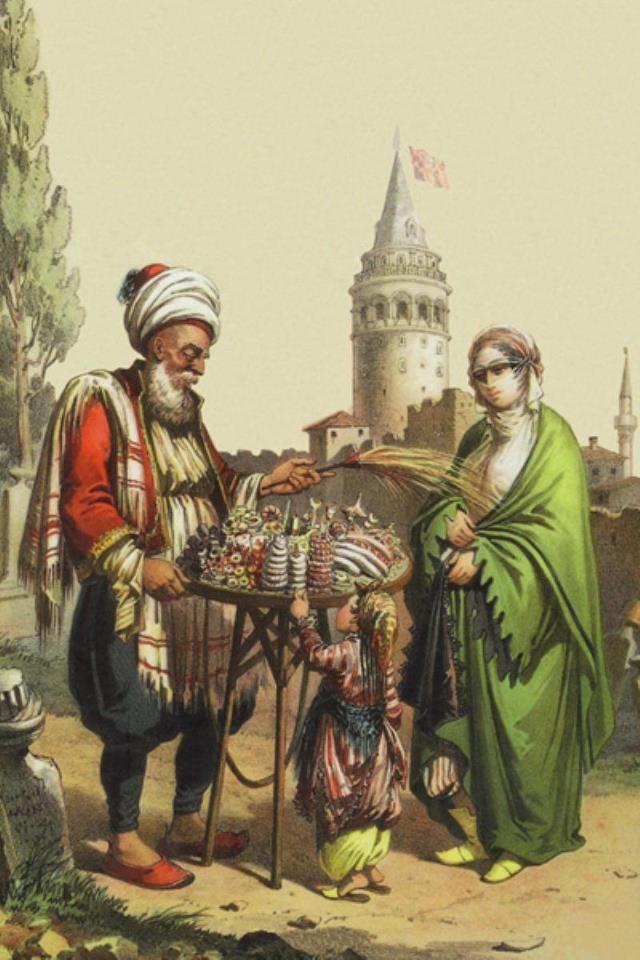 osmanlı zamanında galata'da bir şekerci