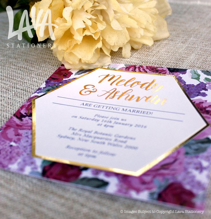 #goldfoil wedding invitations by www.lavastationery.com.au