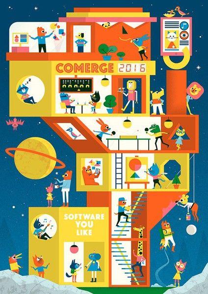 Ben Newman - Illustration for Comerge calendar 2016 Tiphaine-illustration…