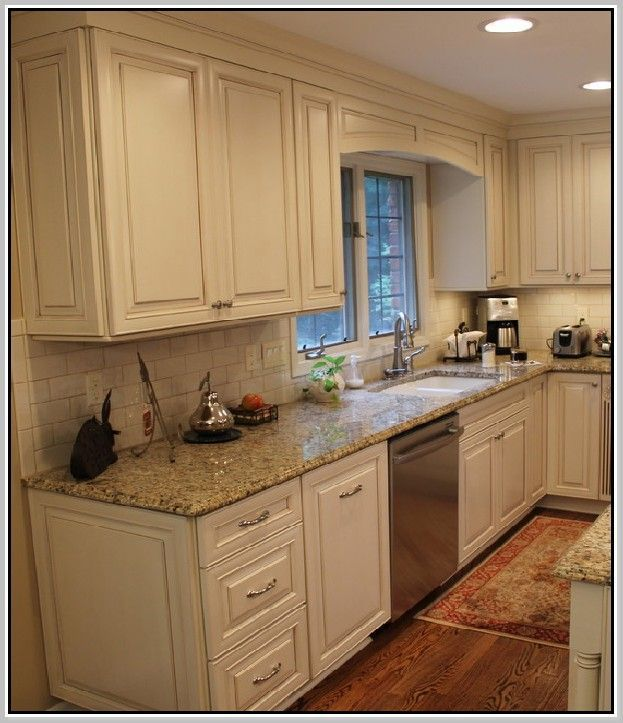 Countertops For White Kitchen Cabinets: Venetian Gold Granite Countertops