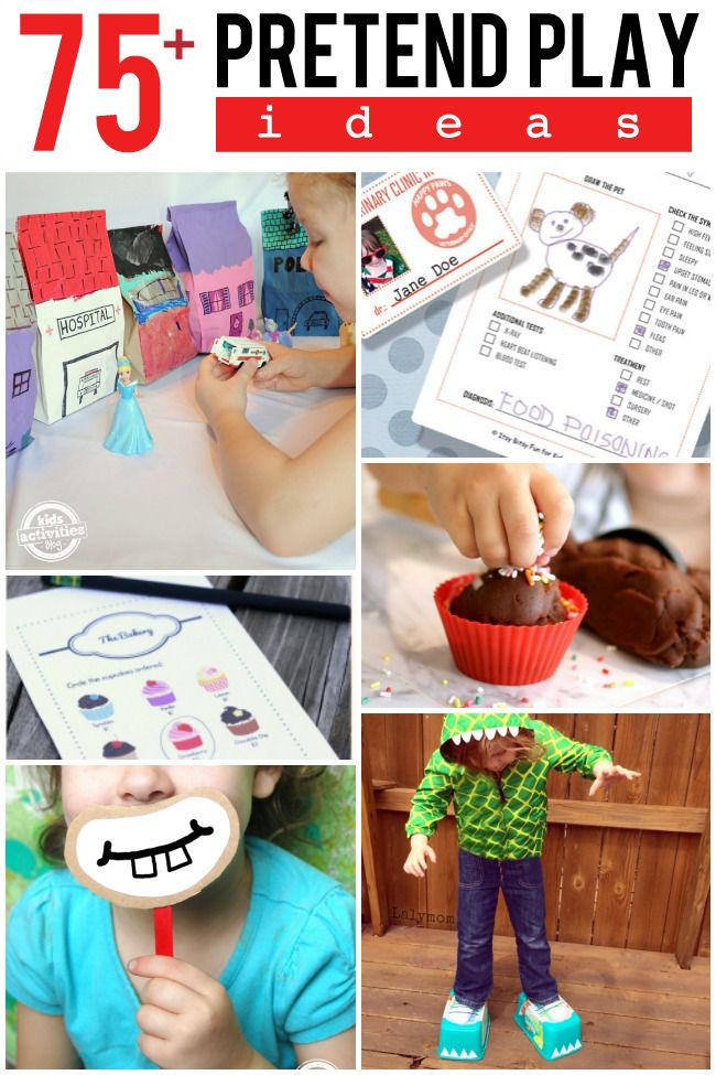 75 Fun Pretend Play Ideas. Did you see the paper bag houses? So fun!